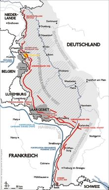 Map of the Siegfried line